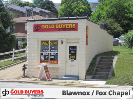 The Gold Buyers of Pittsburgh, Blawnox/Fox Chapel, 257 Freeport Road, Blawnox, PA 15238, precious metals buyer.