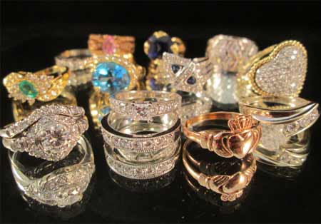 Estate Jewelry Diamond and Gold Rings