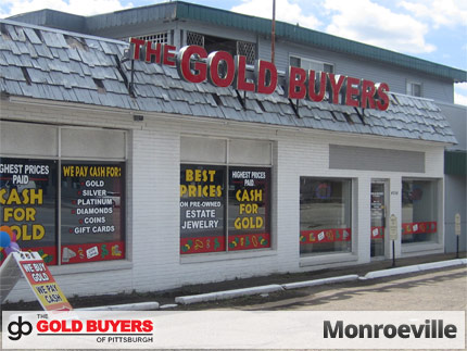 The Gold Buyers of Pittsburgh, 4004 William Penn Highway, Monroeville, PA 15146, precious metals buyer.